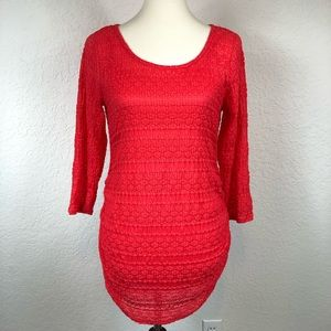 Jessica Simpson Maternity Red 3/4 Sleeve Blouse M